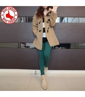 Twill casual style hooded coat