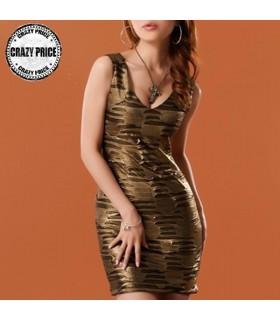 Goldene bronze Kleid