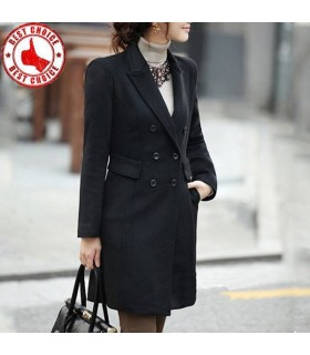 Elegant line black coat