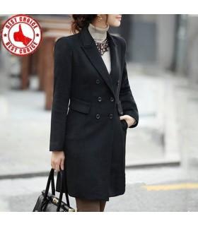 Elegante Linie schwarzen Mantel