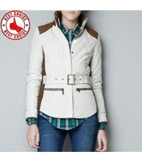 Lässige weiße kurze Jacke