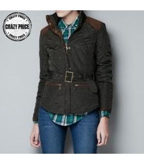 Casual giacca corta marrone