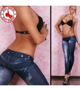 Tipo jeans moda spesso gambali
