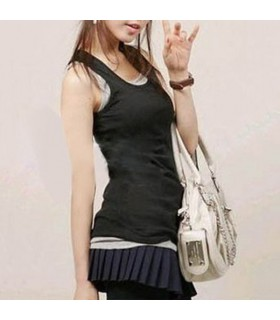 Fashion simple black top