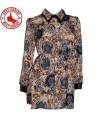 Retro Muster Hemd Kleid