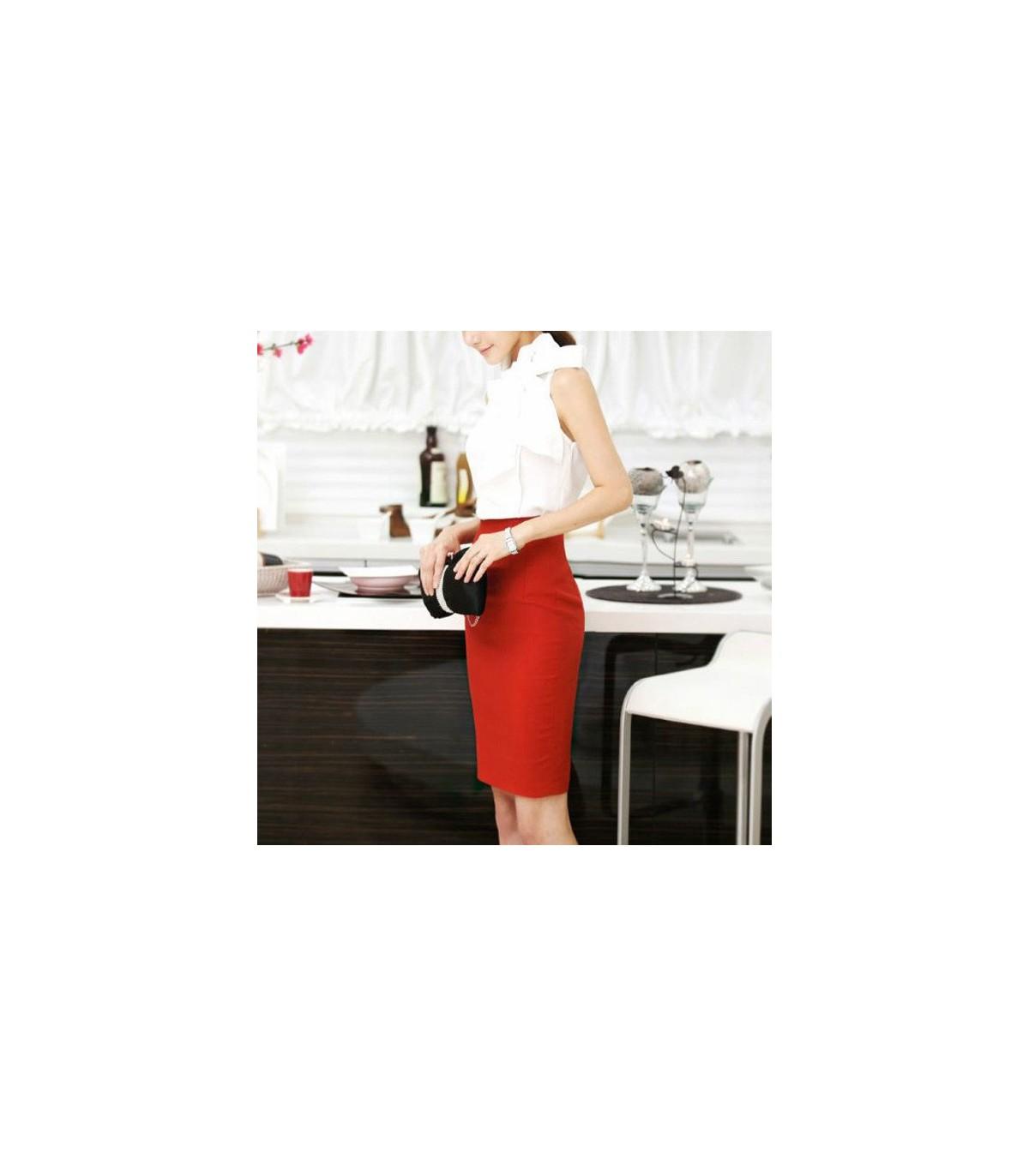 crayon rouge jupe size s. Black Bedroom Furniture Sets. Home Design Ideas