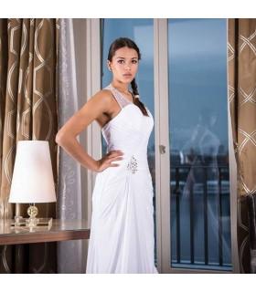 Wunderschönes sexy weisses rückenfreies Hochzeitskleid
