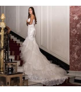 Sirène spécial train robe de mariée sexy