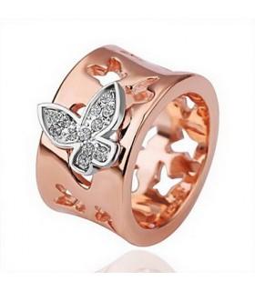 Anello d'oro farfalla