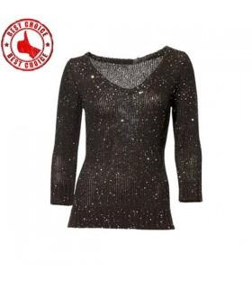 Black glänzen Pullover
