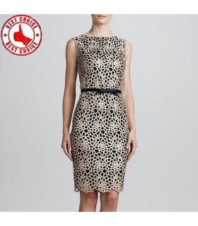 Special floral light lace dress