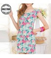 Jersey Blumendruck elastischen Kleid