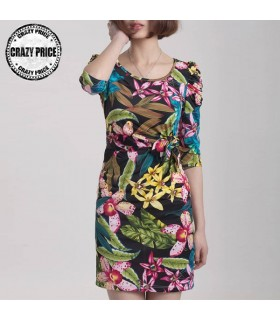Exotic print flower dress