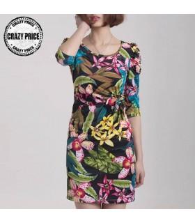 Exotic print flower dress