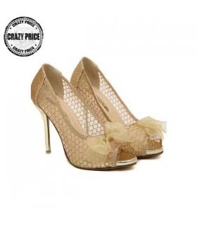 Chaussures touche dorée