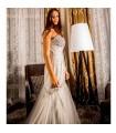 Graues wunderschön verziertes sexy Meerjungfrauen Hochzeitskleid