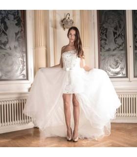 2 en 1 robe de mariée sexy