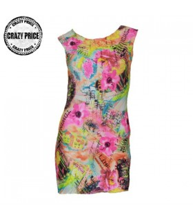 Fresh print summer sexy dress