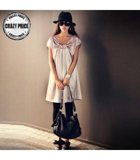 Silver silk chic dress
