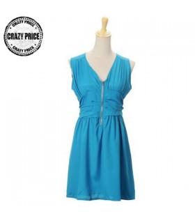 Blau Casual Chic Kleid