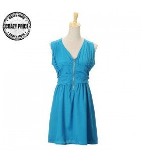 Robe casual chic bleu