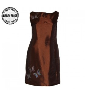 Taffeta chocolate color dress