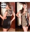 Sexy festes Leoparddruckkleid
