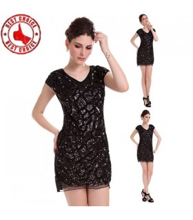 Black sequin italian dress