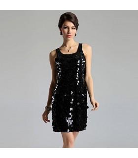 Exquisites handgemachtes Pailetten-Kleid