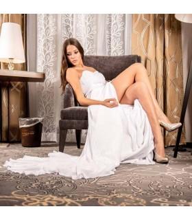 Robe de mariée sexy en mousseline splendide sans bretelles