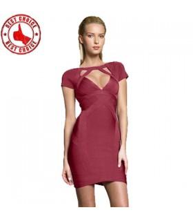 Sexy V-Ausschnitt Dekolleté Kleid