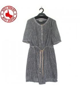 Weiche Textur Grafik Print Kleid