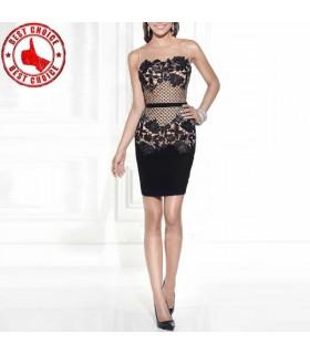 Schwarze Spitze süßes Kleid