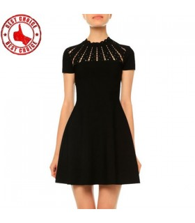 Slim black chic dress