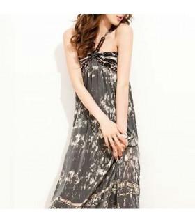 Sinnlich-farbiges Maxi-Kleid