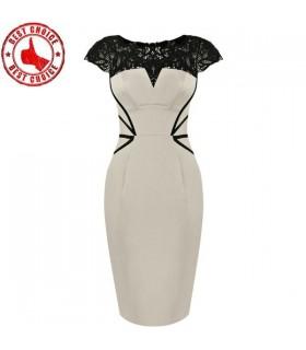 Spitze Stickerei Kleid