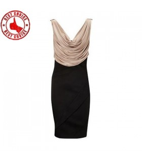 Drape front impressive back dress