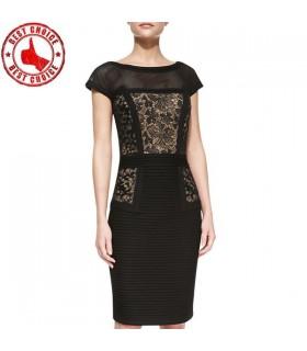 Spezielle Schnitte schwarzen Kleid