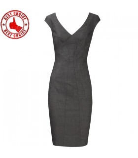 Elegant office grey dress