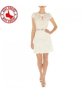 White special lace dress