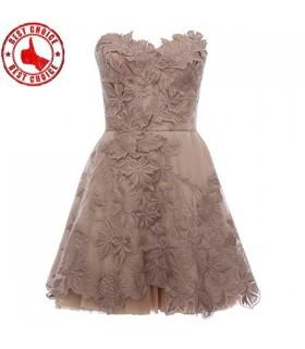 Spezielle Spitze verziert Stickerei Kleid
