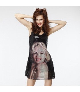 Fashion Merilyn Monroe paillette dress