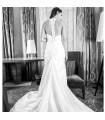 Détail de l'arrière a-forme robe de mariée sexy