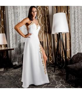 Bretelles spaghetti robe de mariée sexy d'été