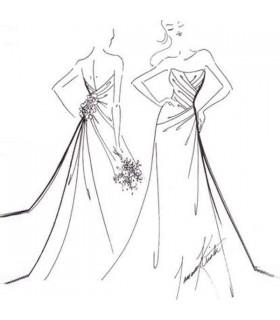 Robe de mariée sexy faite sur commande