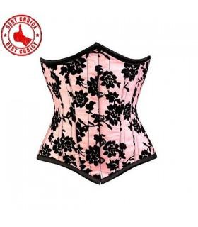 Underbust corset de satin rose