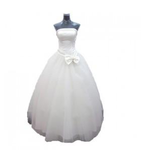 Einfache romantische Hochzeit Kleid