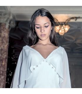 Chiffon Empire romantische sexy Hochzeitskleid