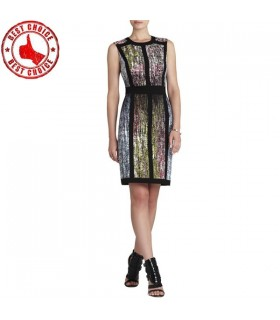 Graphic Print Enges Kleid