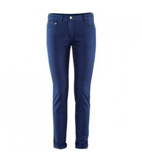 Blu pantaloni gamba sottile